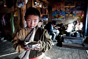 Tibetan semi nomad boy