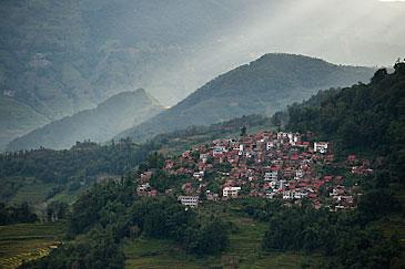 Hilltown at Yuanyang, Yunnan